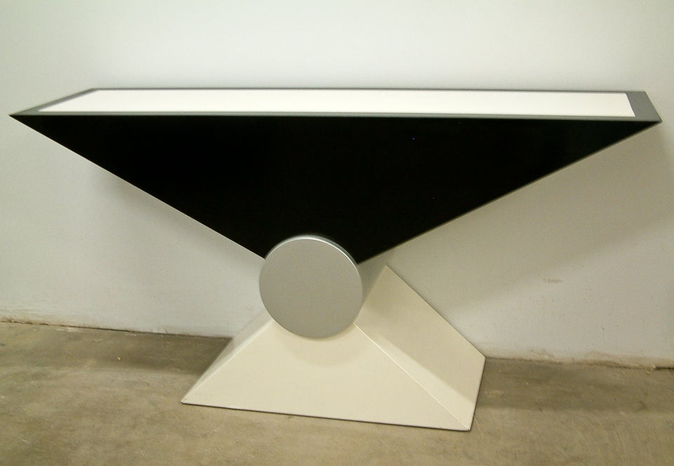 Dramatic Post Modern Console Table At 1stdibs