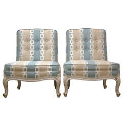 Pair of Drexel French Provincial Boudoir Chairs, circa 1950
