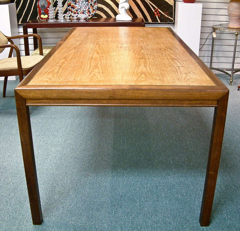 1970 S Wormy Chestnut Modern Dining Table At 1stdibs