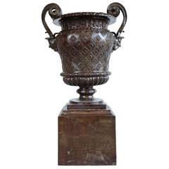 French Louis XIV Style Cast Iron Vase, 19th Century
