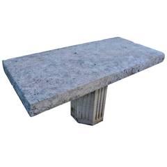 Stone Garden Table, 20th Century