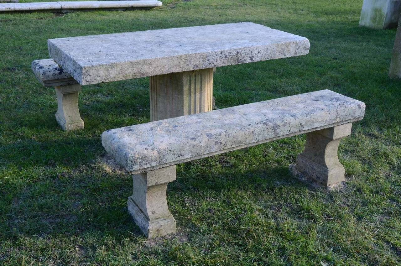 Stone Garden Bench 20th Century At 1stdibs