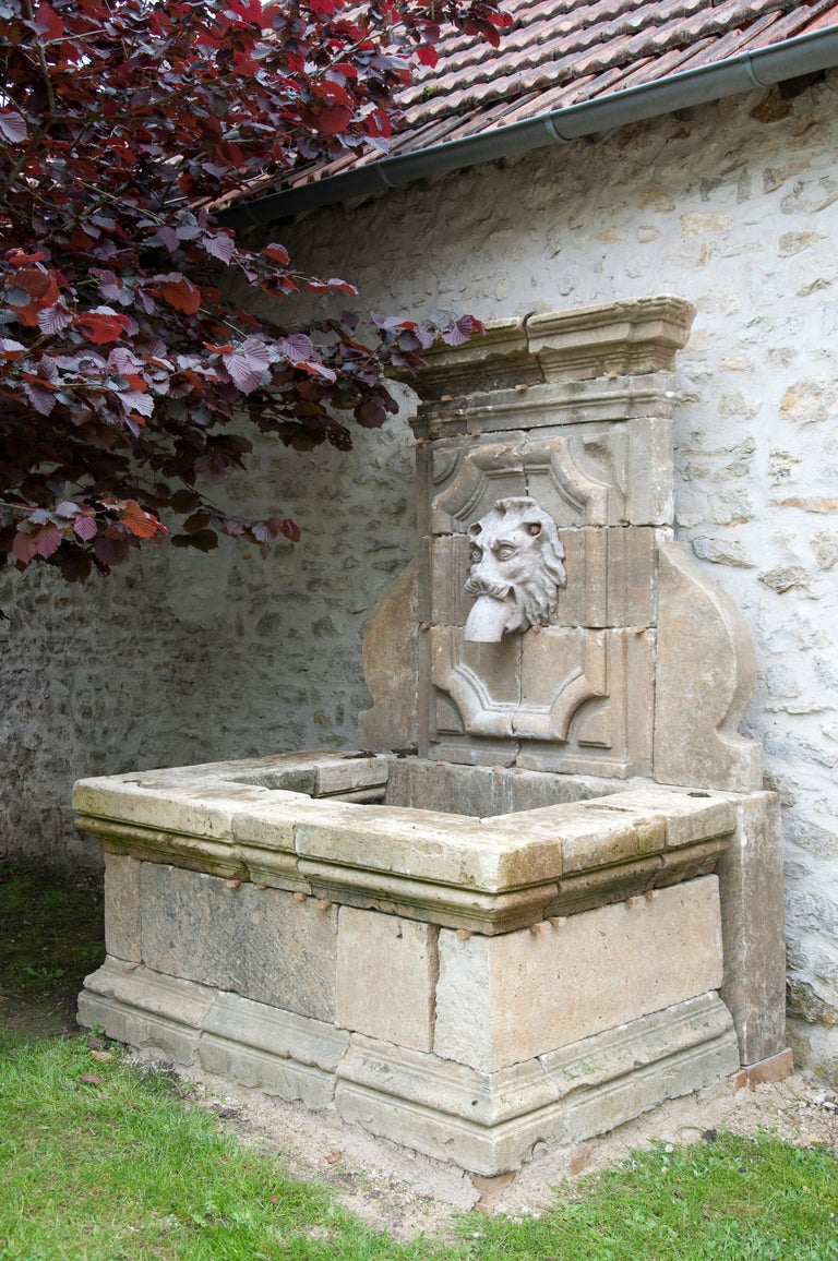French Louis The 14th Style Stone Wall Fountain At 1stdibs