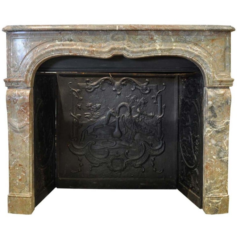 French Louis The 15 Period Marble Fireplace At 1stdibs
