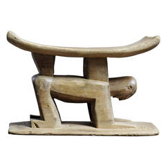 Carved Wood Chair, Ghana, circa 1900