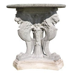Roman Style Composite Stone Guéridon