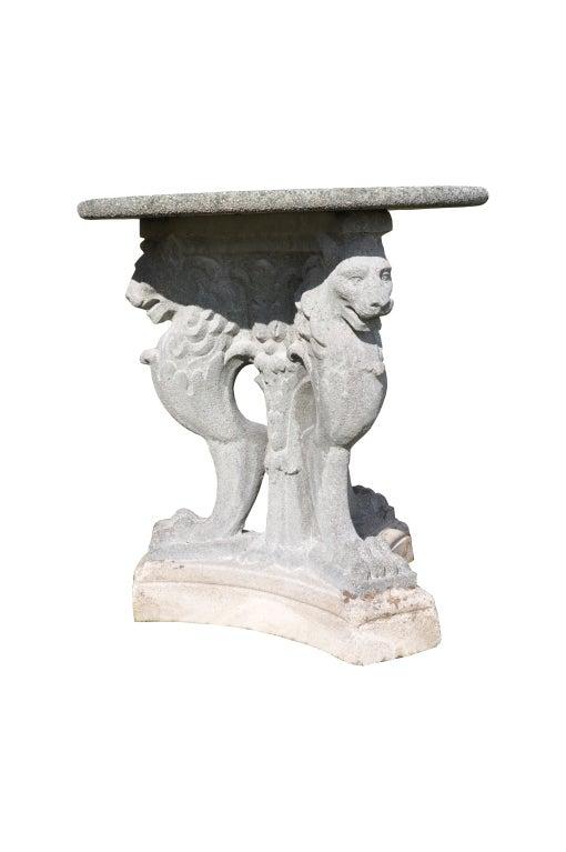 Roman style composite stone guéridon 2