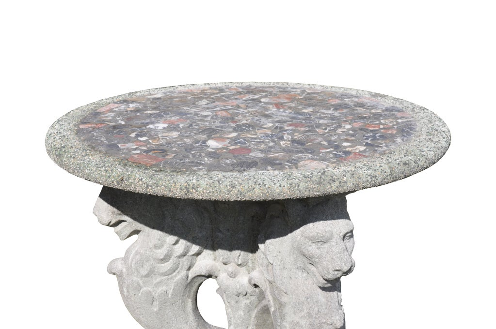 Roman style composite stone guéridon 3