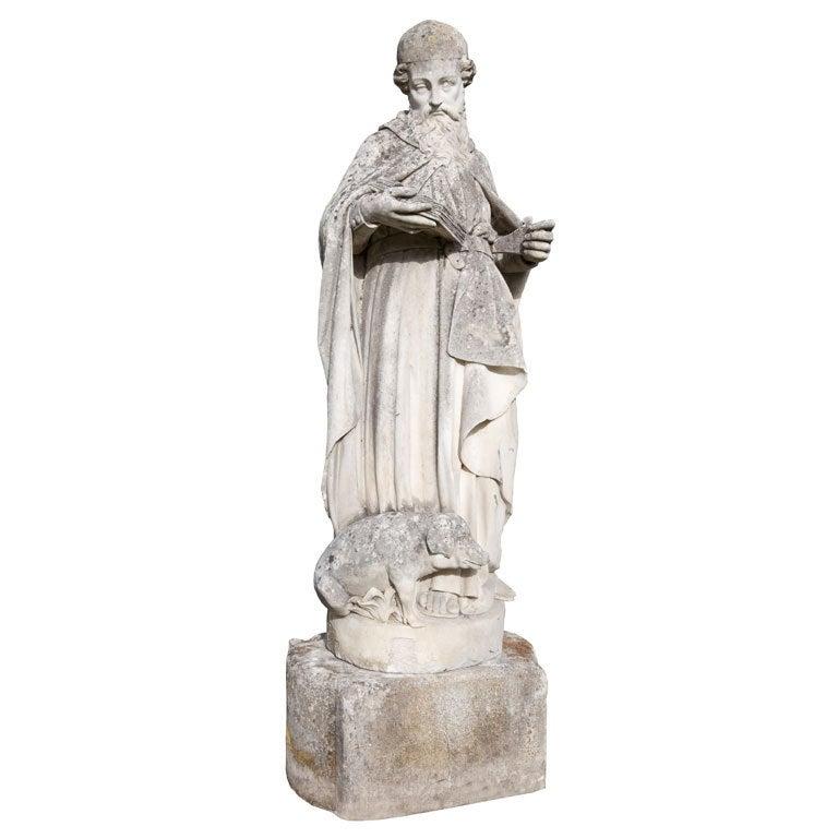 Stone statue of Antoine le Grand