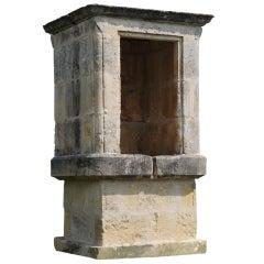 Massive Square Stone Covered Wellhead, 19th Century