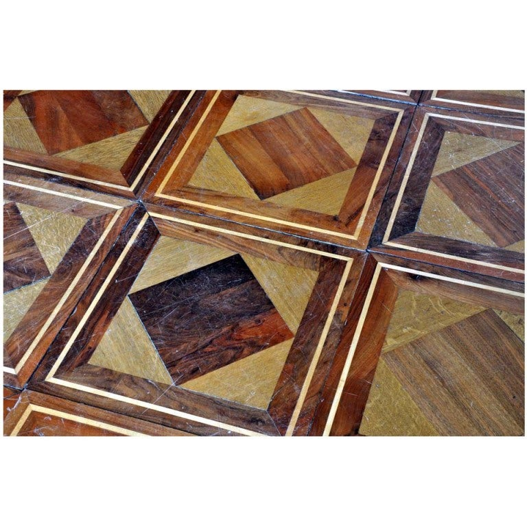Wood geometrical panels dated 19th century For Sale