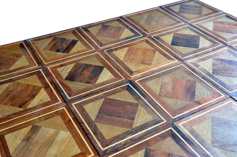 Wood geometrical panels dated 19th century 3