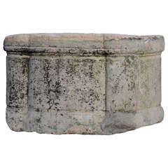 French Renaissance Period Stone Well Curbstone - 16th Century