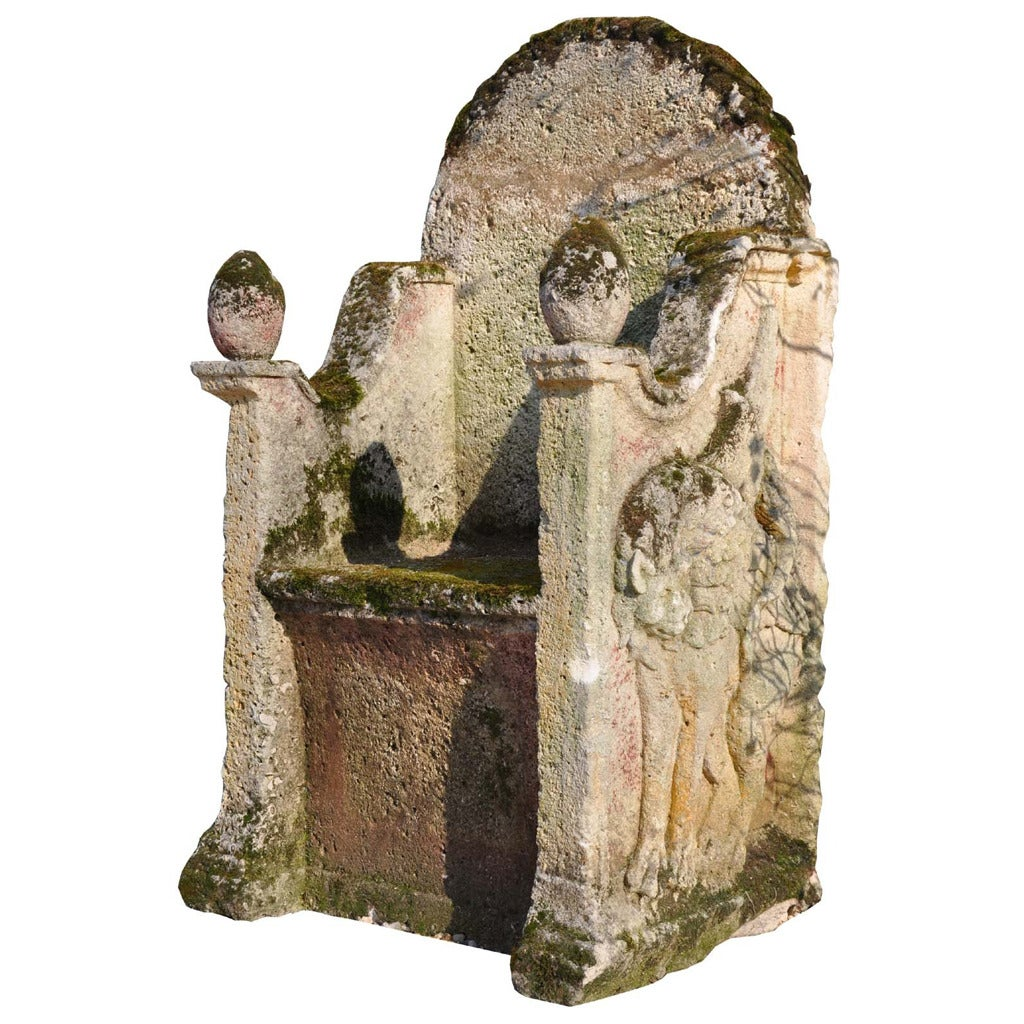 Carved Stone Throne Circa 17th Century For Sale At 1stdibs
