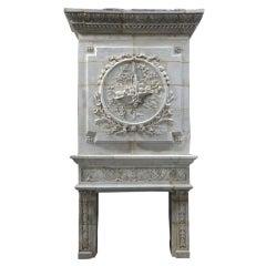 French Renaissance Style Limestone Fireplace, circa 1840