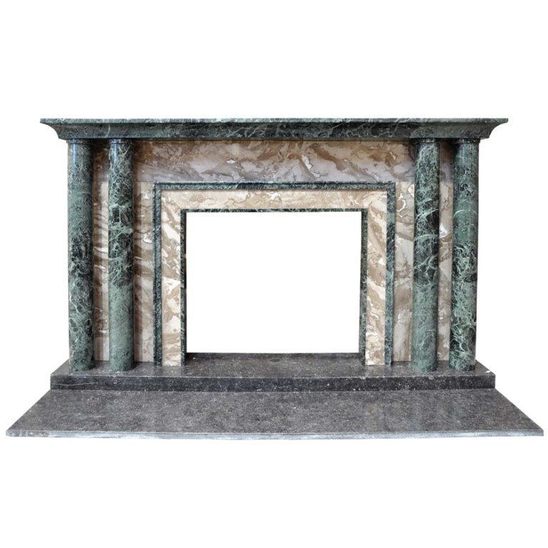 french art d co marble fireplace at 1stdibs. Black Bedroom Furniture Sets. Home Design Ideas