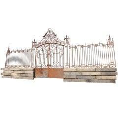 Entrance Wrought Iron Grille Dated 19th Century