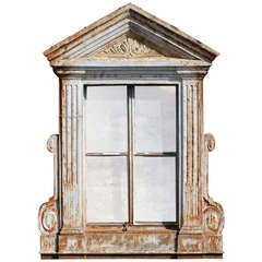 French Directoire Style Cast Iron Window Frame - 19th Century