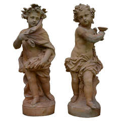 Terracotta Allegorical Figures of the Autumn and the Winter
