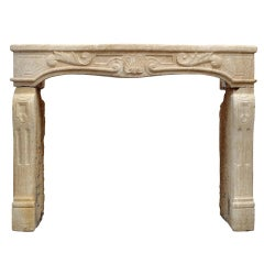 French Louis XV Period Fireplace, 18th Century