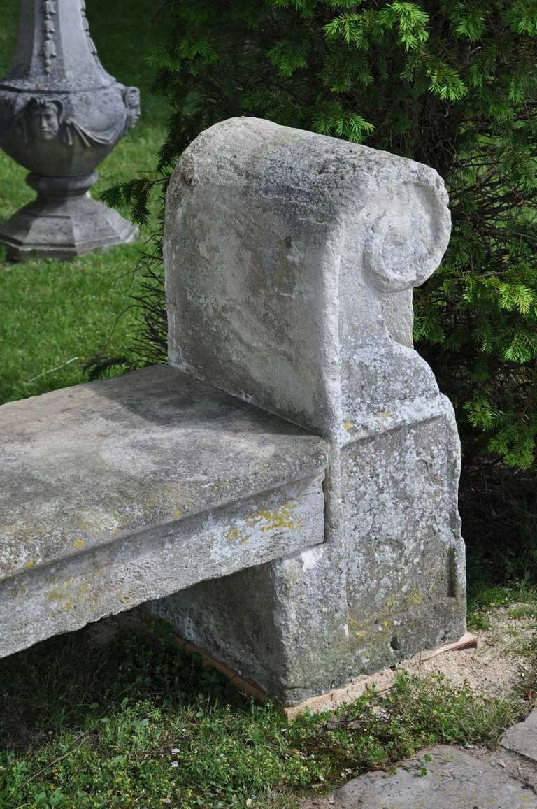 Stone garden bench late 18th century at 1stdibs Stone garden bench