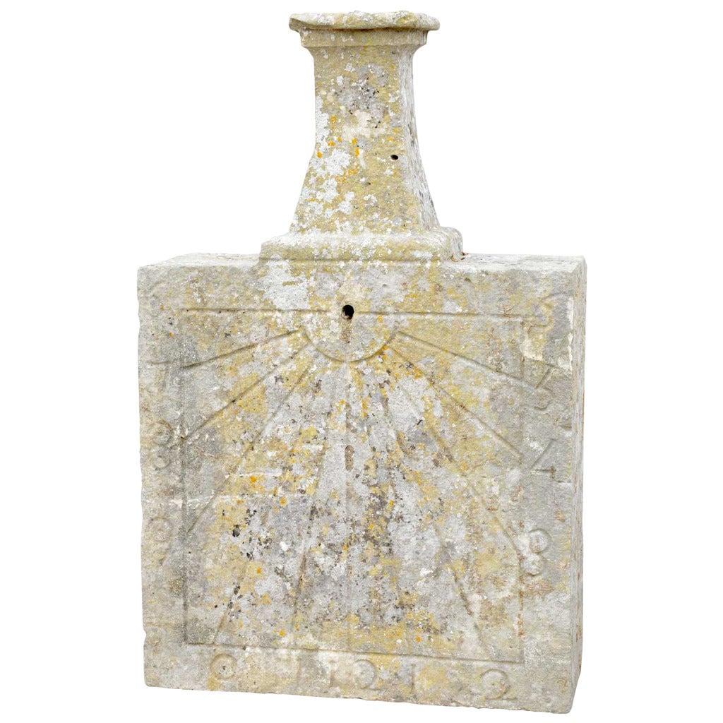 Rectangular Stone Sundial, 19th Century