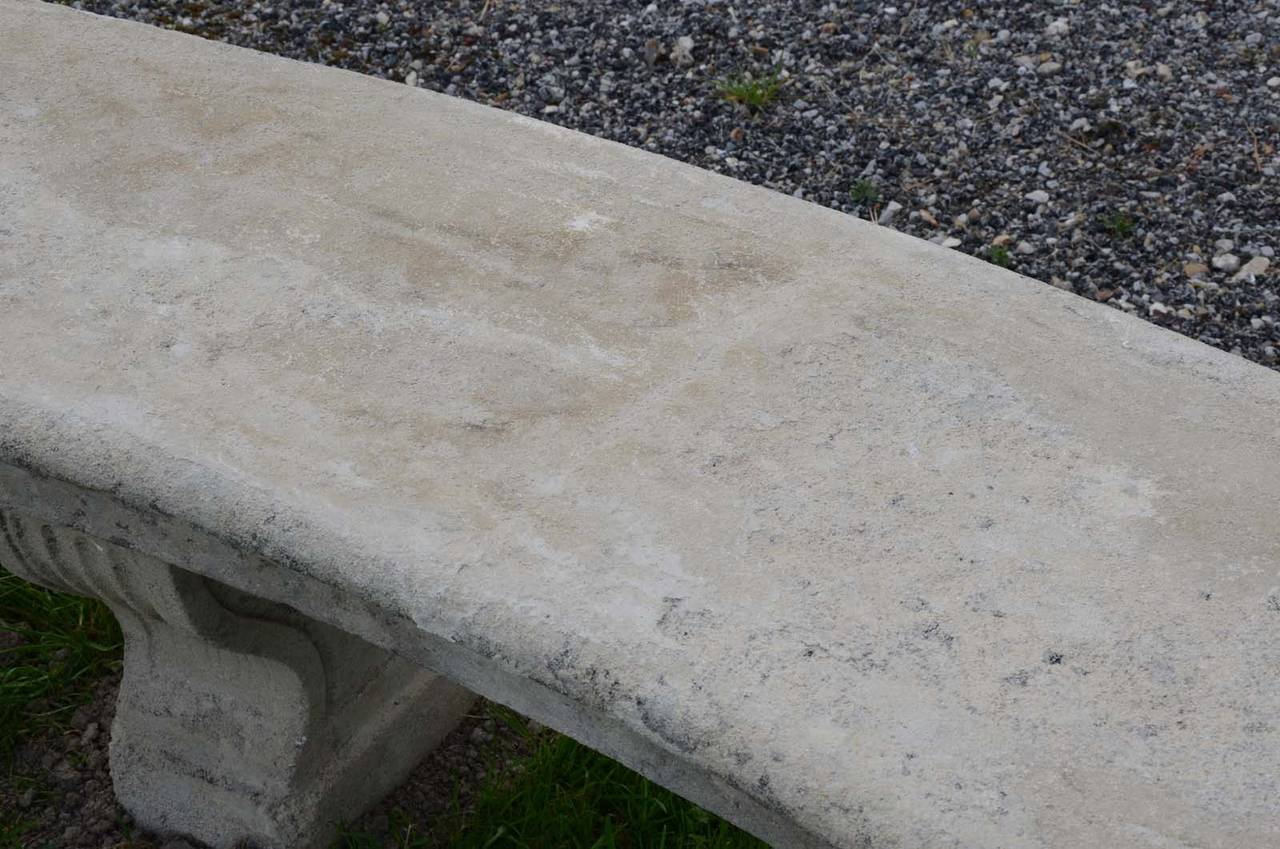Louis XIV Composite Stone Bench, 19th Century For Sale