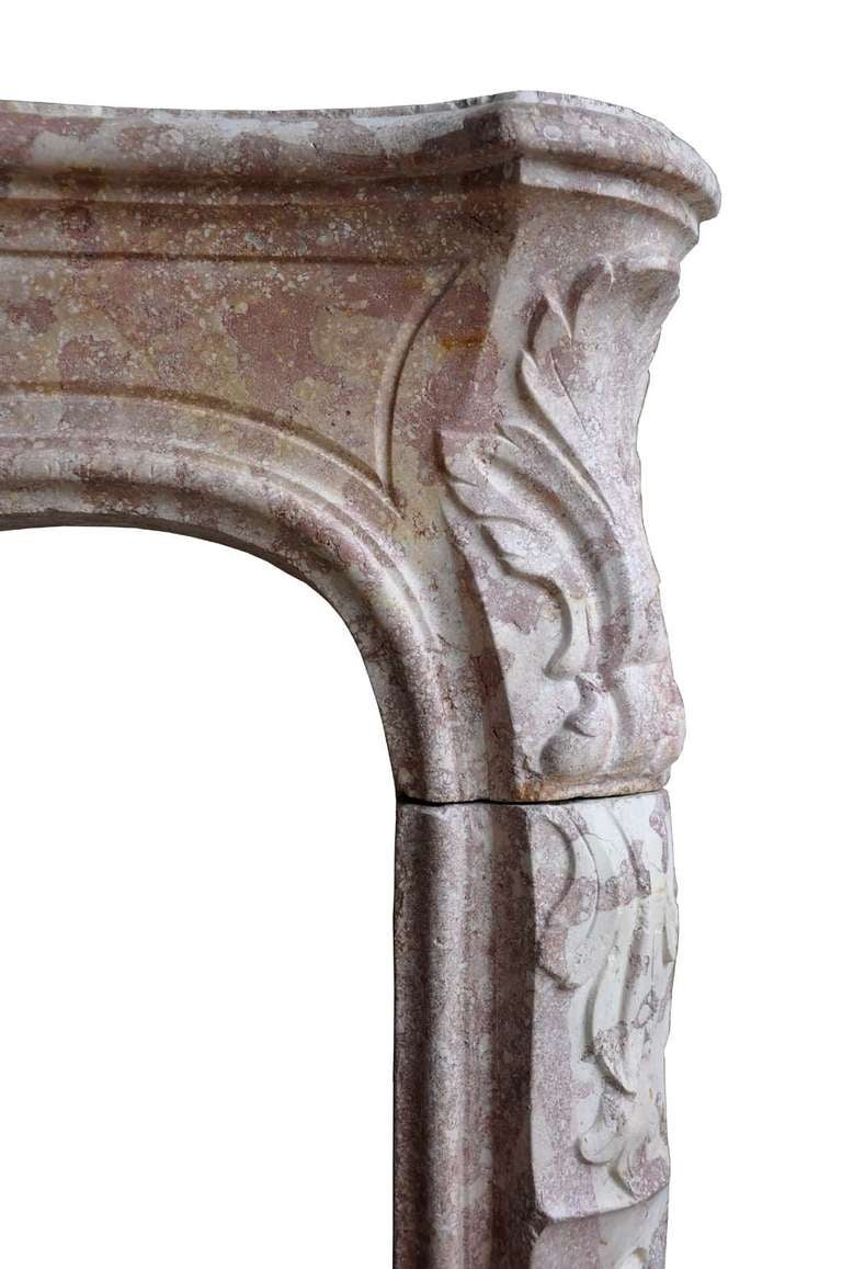 French Louis the 15th marble stone fireplace dated 18th century. 4