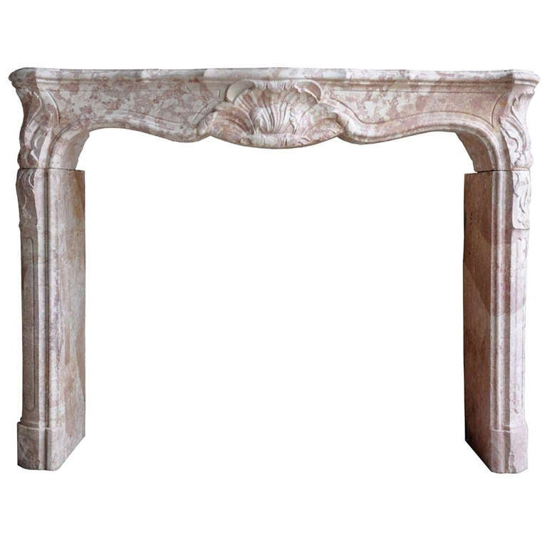 French Louis the 15th marble stone fireplace dated 18th century.