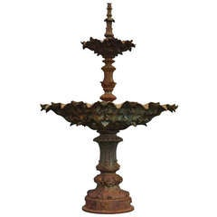 Cast Iron Fountain Cast by Val d'Osne and Dated Late 19th Century