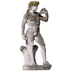 Carved Stone Figure of David after Michelangelo, circa 1960