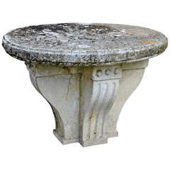Garden Stone Table, 19th Century