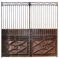 French Directoire Period Wrought Iron Gate, Late 18th Century