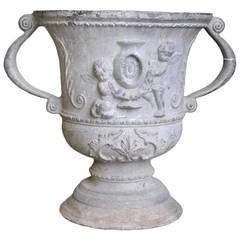 Lead vase - 19th Century
