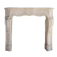 French Louis the 14th period limestone fireplace - 18th century
