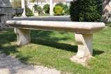 French Louis the 14th period stone garden bench image 2