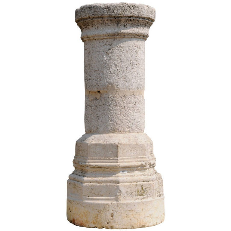 Construcion Stone Column : Stone column th century for sale at stdibs