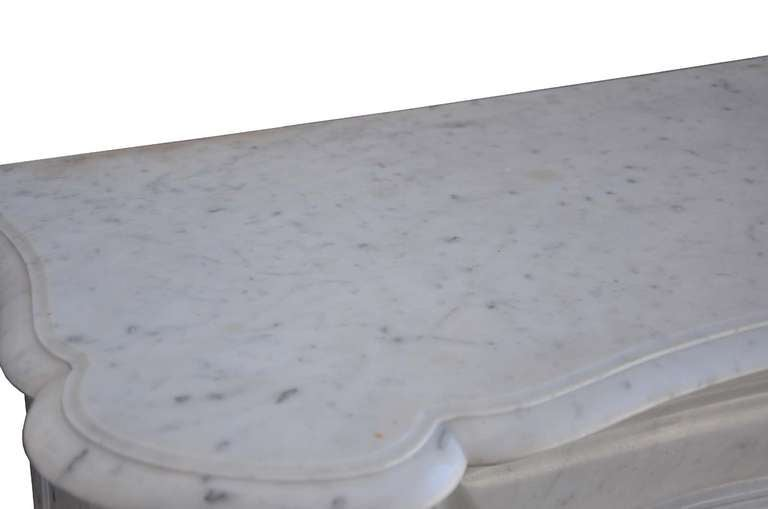 French Louis the 15th style white marble and cast iron fireback - 19th century 9