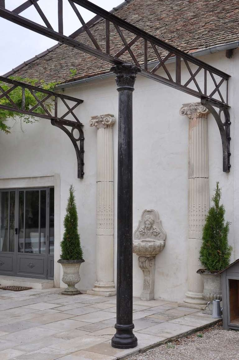 Cast Iron Columns : Cast iron architectural elements late th century for