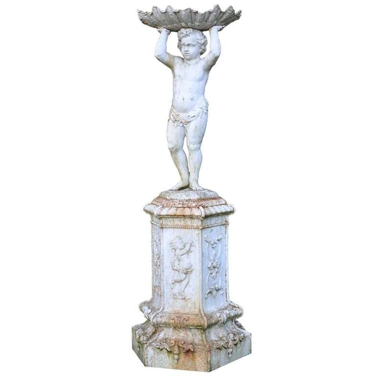 French Louis XIV Style Cast Iron Fountain Center Piece - 19th Century