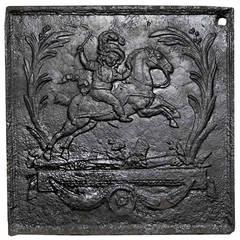 Cast iron fireback - 18th century