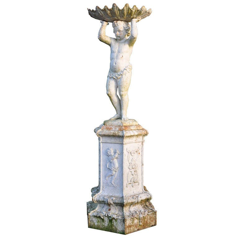 French Louis XIV Style Cast Iron Fountain Centerpiece - Late 19th century.