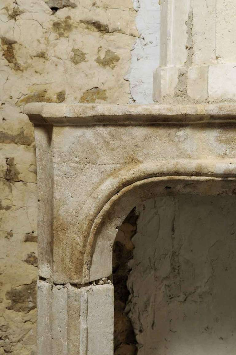 French Louis Xiv Period Limestone Fireplace At 1stdibs