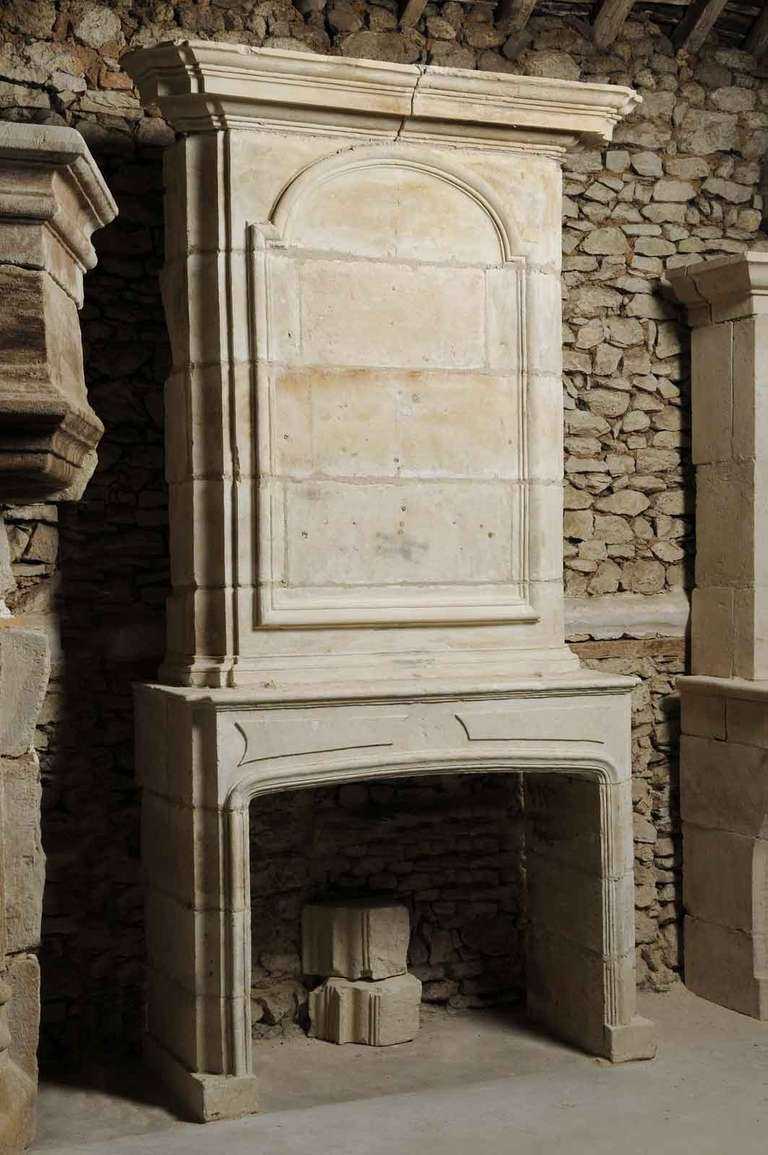 French Louis Xiv Period Limestone Fireplace Late 17th Century At 1stdibs