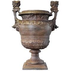 Louis XIV Style Cast Iron Garden Vase
