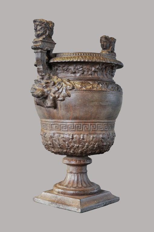 louis xiv style cast iron garden vase at 1stdibs. Black Bedroom Furniture Sets. Home Design Ideas