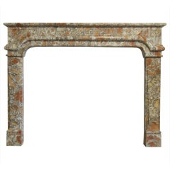 French Louis XIV Period Marble Fireplace