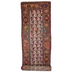 Antique Persian Kurd Carpet Runner, Extra Long Persian Runner