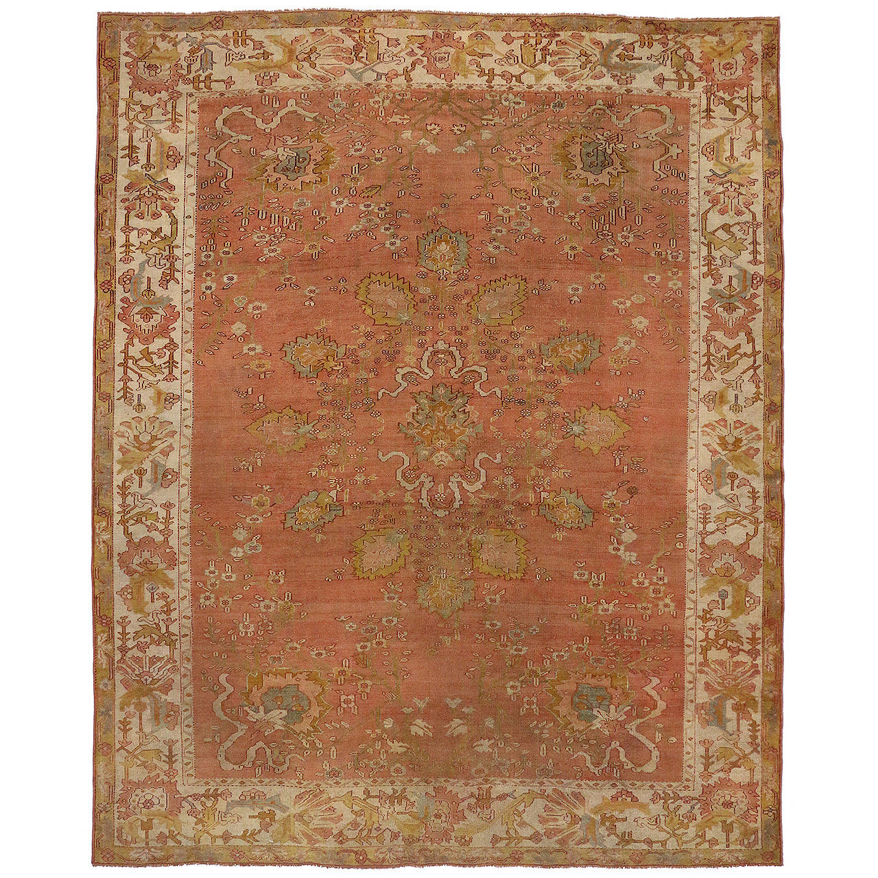 Antique Turkish Oushak Area Rug For Sale At 1stdibs
