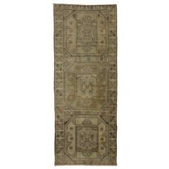 Antique Turkish Oushak Decorative Oriental Carpet In Room